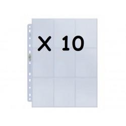 10X UP - SILVER PAGINAS DE 9-BOLSAS (CADA) DISPLAY