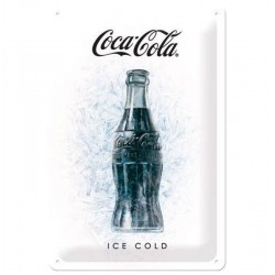 Metal Plate - Vintage - Coca-Cola Ice Cold
