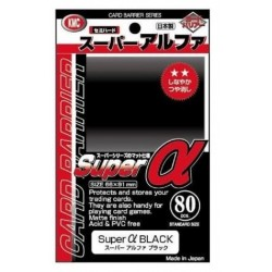 Super Alpha Sleeves-  Black Standard Size